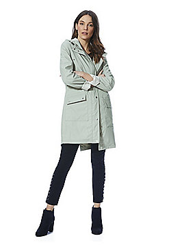 F&F Rubberised Shower Resistant Hooded Raincoat - Mint