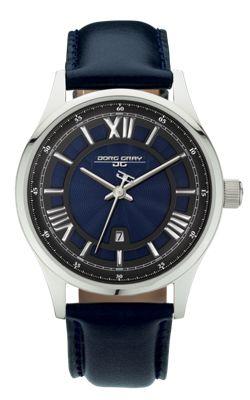 Men's Watch JG6800-13 - Blue Leather Strap - Blue Dial - Jorg Gray