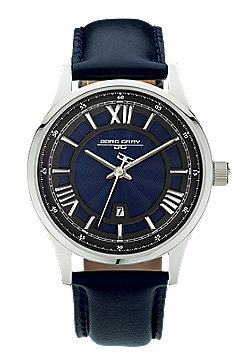Men's Watch JG6800-13 - Blue Leather Strap - Blue Dial - Jorg Gray