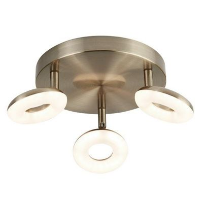 DONUT 3 LIGHT LED SPOT LIGHT ANTIQUE BRASS