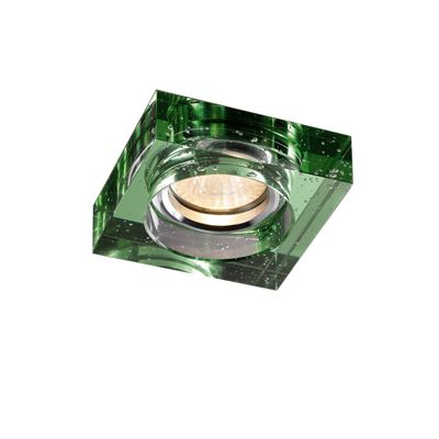 Crystal Bubble Downlight Square Rim Only Green