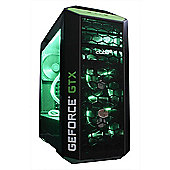 Cube Tension VR Nvidia Edition Overclocked Watercooled Gaming PC i7k Quad Core with MSI Geforce GTX 1080 8Gb GPU SLi Intel Core i7 Seagate 1Tb SSHD wi
