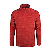 Mountain Warehouse Mens Half Zip with Microfleece and Highly Breathable Fabric - Orange