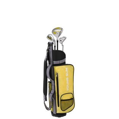 Young Gun Zaap Eagle Junior Kid Right Hand Golf Set + Bags Age 3-5 - Yellow
