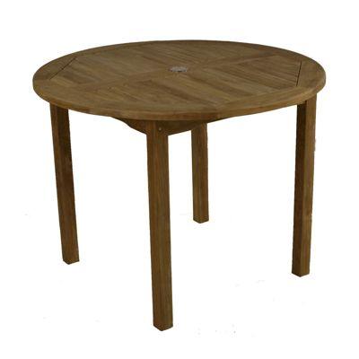 BrackenStyle Warwick Bistro Round Teak Table - Brown