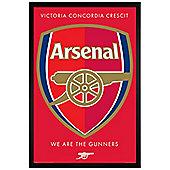 Arsenal FC Black Wooden Framed Arsenal Crest Poster 61x91.5cm