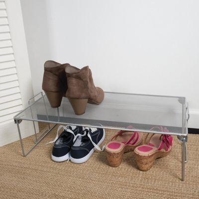 Design Ideas Wire Mesh Stacking Shoe Shelf Storage 351929