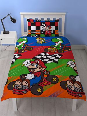 Nintendo Mario Champs Single Duvet Cover Set