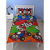 Nintendo Mario Champs Single Duvet Cover Set
