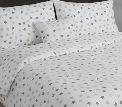 Grey and White Stars Housewife Pillowcases
