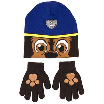 Paw Patrol Boys  Chase  2 Piece Winter Set Hat   Glove One Size Kids  Accessories Catalogue Number  520-6727 590bae5cd9c