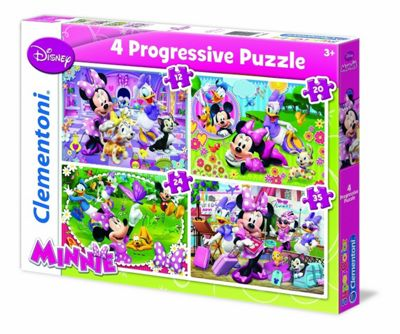 Minnie Mouse - 4 in 1 Puzzle