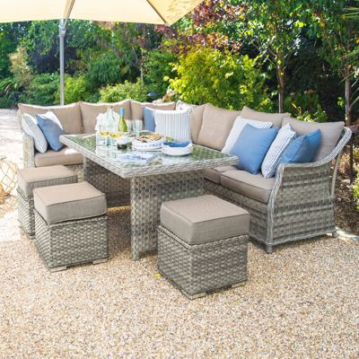 Rattan Garden Furniture Tesco buy nova - oyster rattan corner sofa dining set from our rattan