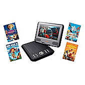 Lava 7 inch DVD Player with 4 Fox Family DVD's Bundle