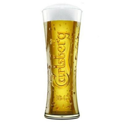 Carlsberg Official Lager Beer Glass Clear Tall Pint 570ml