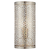 Tangier Fret work Table Lamp Pewter/Silver