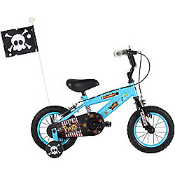 """Bumper Pirate 12"""" Pavement Bike Blue/Black"""