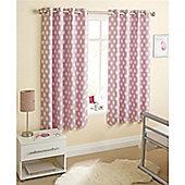 Enhanced Living Eclipse Eyelet Curtains - Pink