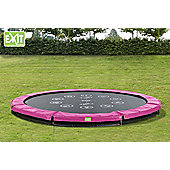 EXIT Twist Ground Trampoline (12ft) Pink/Grey