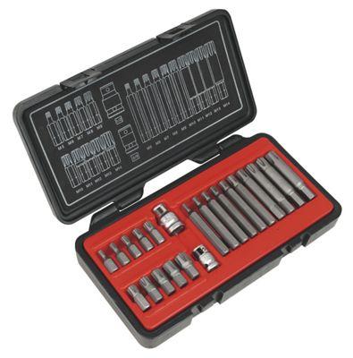 Sealey AK2190 - Ribe Bit Set 22pc 3/8inch & 1/2inchSq Drive