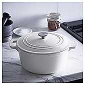 Go Cook 4.6L Cast Iron Casserole Dish Cream