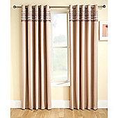Enhanced Living Siesta Natural Eyelet Curtains - 90x90 Inches (229x229cm)