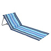 Folding Sun Lounger Beach Mat - Blue