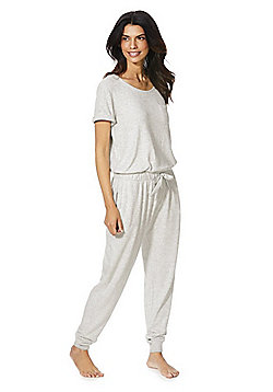 F&F Lightweight Knit Lounge Jumpsuit - Grey
