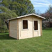 Single Glazed Escape Wooden Log Cabin, 44mm, 10x8ft