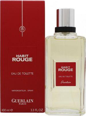 Guerlain Habit Rouge Eau de Toilette (EDT) 100ml Spray For Men
