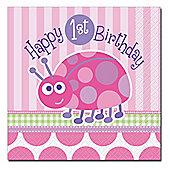 Ladybug 1st Birthday Paper Luncheon Napkins 2ply