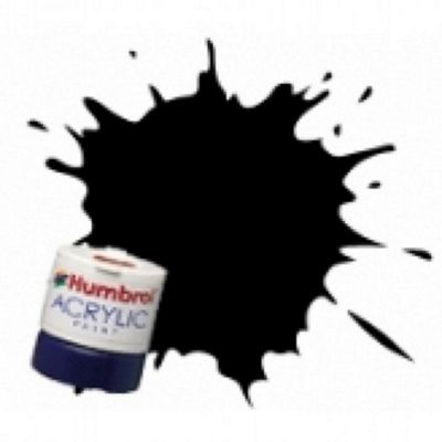 Humbrol Acrylic - 14ml - Matt - No33 - Black