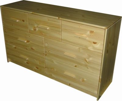 Oestergaard Connie Chest of Drawers with 3+4 Drawers - Natural lacquered