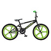 Rooster Big Daddy 20 BMX Black/Green with Skyway Mag Wheels