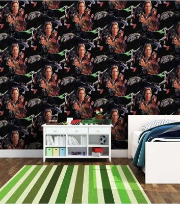Star Wars Wallpaper, Multi Coloured Character Wall Covering