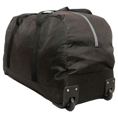 Tesco Everyday Value 2-Wheel Holdall, Black Large