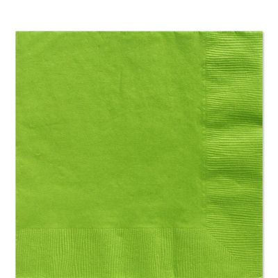 Lime Green Luncheon Napkins - 2ply Paper - 50 Pack