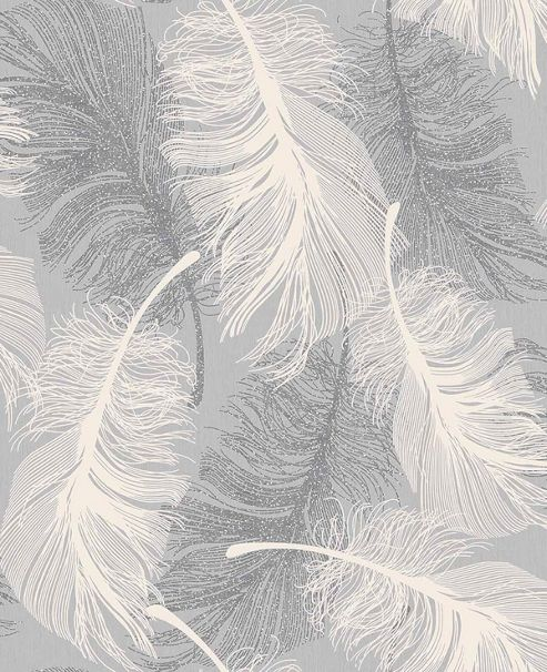 Coloroll Feather Dappled Grey Wallpaper
