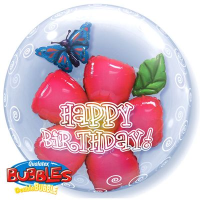 Birthday Flower Balloon - 24 inch Foil