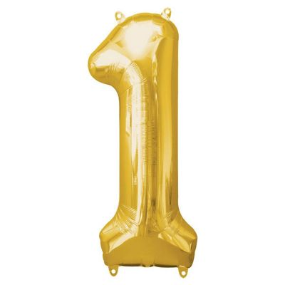 Gold Number 1 Balloon - 34 inch Foil
