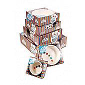 Paw Prints Ceramic Bowl 8in