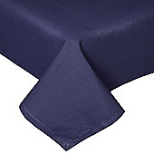 Homescapes Plain Cotton Navy Blue Tablecloth, 54 x 70 Inches