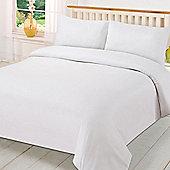 Brentfords Plain Duvet Cover with Pillowcase Bedding Set - White