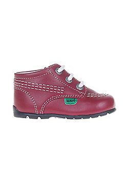 Kickers Kick Hi Baby Toddler School Shoe Boot Red - Red