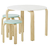 Curved Play Table and Two Stool Set