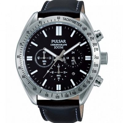 Pulsar Men's Sport Chronograph Stainless Steel Date Indicator Tachymeter Watch