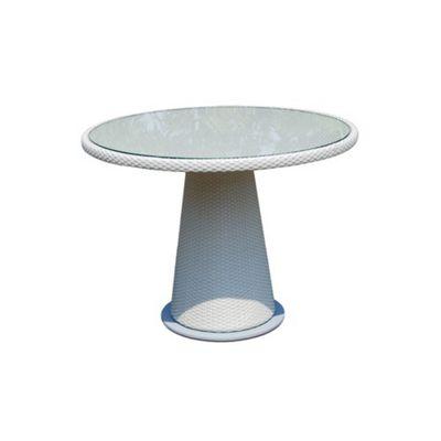SkyLine Design Alba Table 4 Seat Dining Table - Cappucino 7mm - Rain Cover