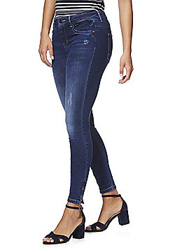 Only Ankle Zip Skinny Jeans - Indigo