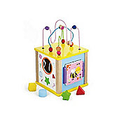 Viga Wooden Activity Cube - Medium