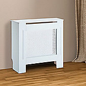 Homcom Wooden Radiator Cover Cabinet Modern Grill Style White (Small)